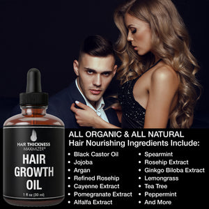 Organic Hair Growth Oils for Hair Thickening