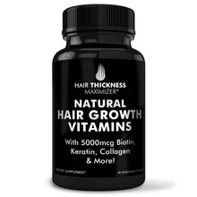 Natural Hair Growth Vitamins - For Stronger, Thicker Hair