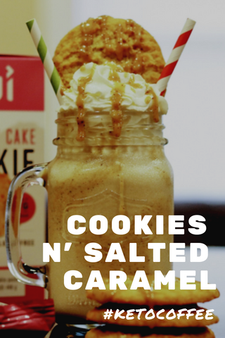 Cookies n' Salted Caramel Keto Coffee
