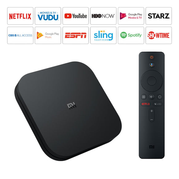 Xiaomi Mi Box S 4K HDR Android TV with one year Subscription