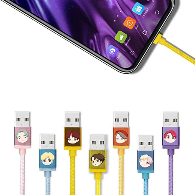 BTS Mobile Phone Accessories C-Type Charging Cable