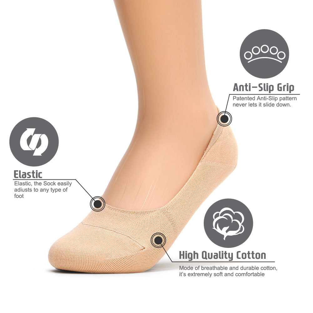 Womens Anti-Slip No Show Socks, Best Low Cut Liner Socks