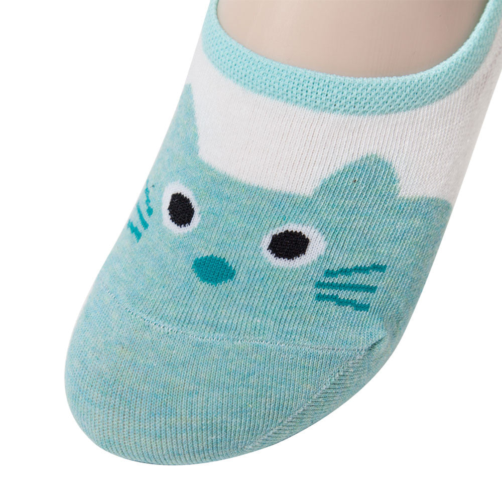 Womens Anti-Slip No Show Cat Socks, Best Low Cut Liner Socks