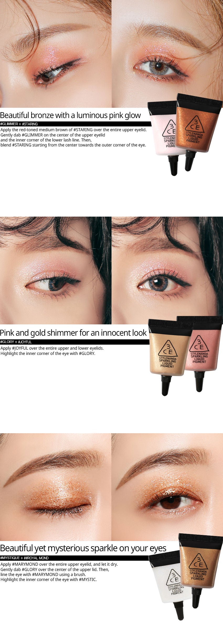 3 Concept Eyes 3ce Sparkling Liquid Pigment Pink Haze Daftar Threeceyes 3ceyes Mini Concealer Cair Highlighter Shading Eye Lips Bibir Blend These Colors Together For Even More Gorgeous Looks Add An Instant Touch Of Freshness