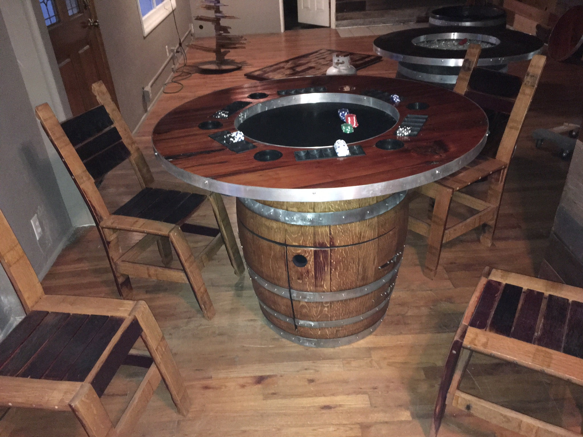 Wine Barrel Poker Table