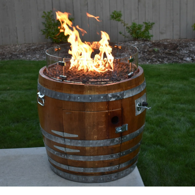 Wine Barrel Fire Pit - Wine Barrel Fire Pit Custom Fire Pits Smokin' Barrel Works