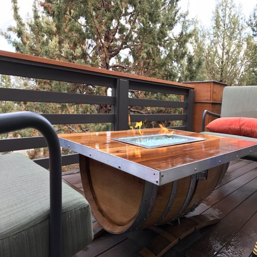 Coffee Table Wine Barrel Fire Pit - Wine Barrel Fire Pit Custom Fire Pits Smokin' Barrel Works