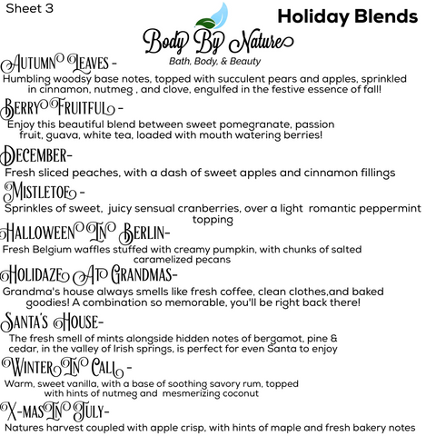 Holiday scent file sheet 3