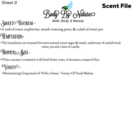 Scent File sheet 2