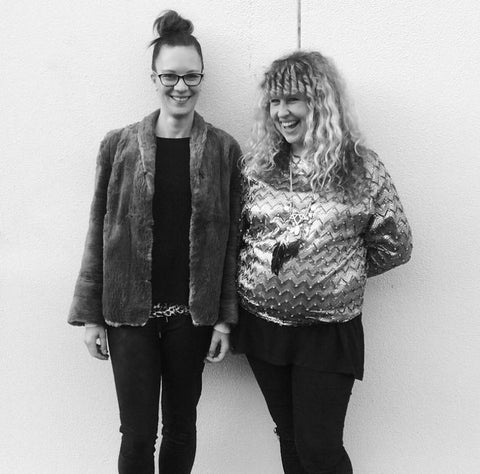Beck and Hannah (pregnant) at one of our first exhibitions!