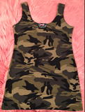 Booty Leggings Long Basic NEW ARRIVAL Tank Top in Camo