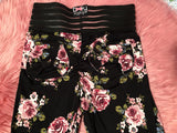 Booty Leggings Bow Pockets High Waisted Butt Scrunch Stretch in Ring Around the Rosey