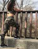 Booty Leggings Cropped Bra NEW ARRIVAL Top in Camo