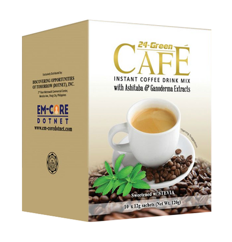 24-Green Cafe Instant Coffee Drink Mix (10 sachet x 12gm) Dotnet Wink Collection - Periwinkle Online