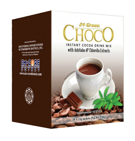 24-Green Choco Instant Cocoa Drink Mix (10 sachet x 12gm) Dotnet Wink Collection - Periwinkle Online
