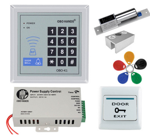 Embedded Magnetic Electric Lock - RFID Keypad Door Access Control System (Kit 7)