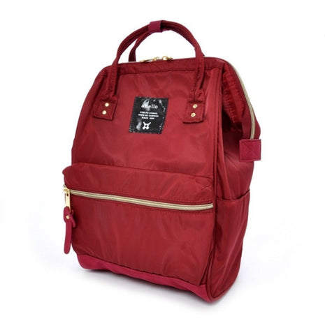 Free Shipping | Anello Mini Original Japan Unisex Casual Backpack Nylon with Backzip (Wine) Anello - iWynx