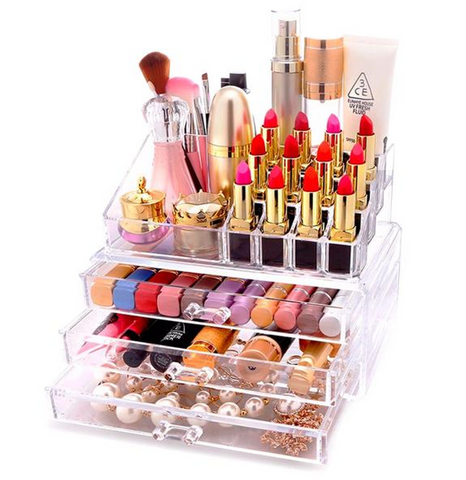 Clear Acrylic Cosmetic Storage Organizer Drawer