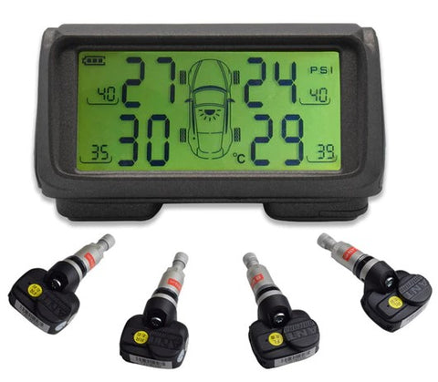 Car Console Solar M62G-Internal Sensor Tire Pressure Alarm Monitoring System Wireless TMPS