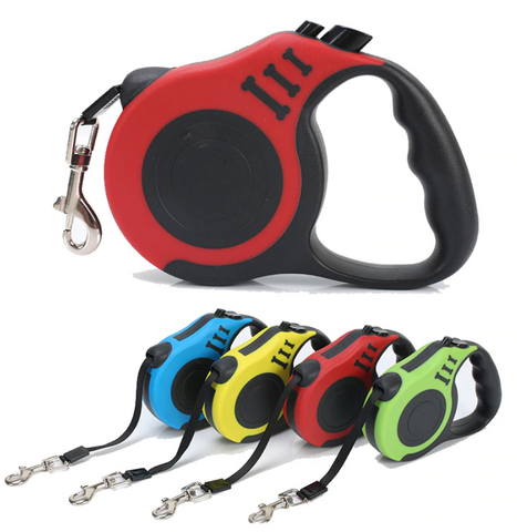 Free Shipping | 3M/5M  Flexible and Retractable Nylon Dog Lead Roulette Leash OEM - iWynx
