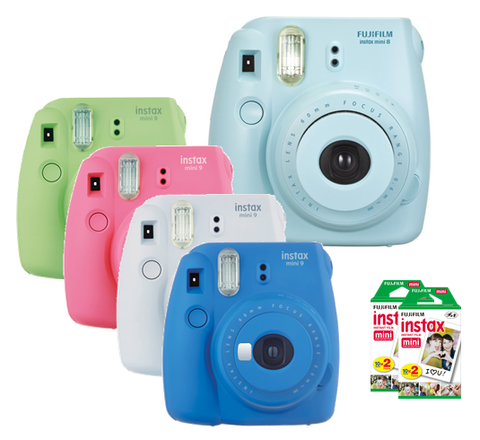 Fujifilm Instax Mini 9 Instant Printing Digital Camera with 40 Sheets (2 Twin Pack) Fuji Film * Fuji Film Instax Camera - Periwinkle Online