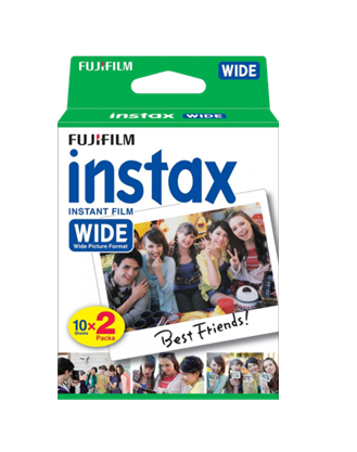 Fujifilm Instax Wide Film Plain Edge Twin Packs (10 sheets x 2) * Fuji Film Fujifilm - Periwinkle Online