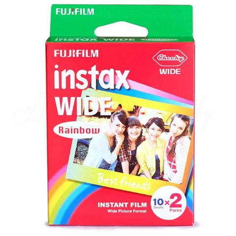 Fujifilm Instax Wide Film Rainbow Twin Packs (10 sheets x 2) * Fuji Film Fujifilm - Periwinkle Online