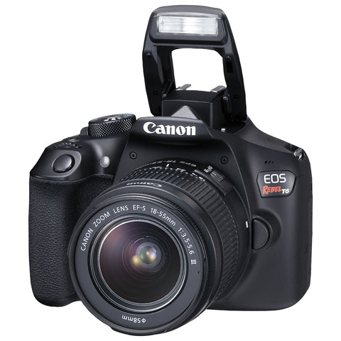 NEW Canon EOS 1300D Rebel T6 DSLR Wi-Fi Camera with 18-55mm III Lens - Periwinkle Online