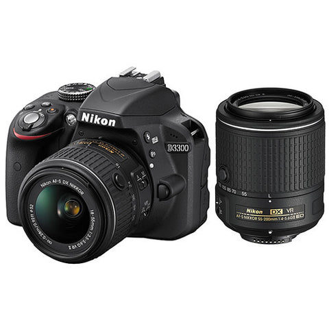 Nikon D3300 DSLR 24.2 MP HD 1080p Digital SLR Camera Body + AF-S 18-55mm VR II Lens - BLACK * Nikon DSLR w/ Shipping Fee - Periwinkle Online