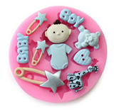 Free Shipping | 3D Baby Boy Soap Candy Chocolate Cookie Fondant Cake Decorating Silicone Mold Tools OEM - iWynx