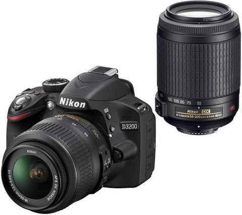 Nikon D3200 DSLR Camera Body + AF-S 18-55mm LENS KIT * Nikon DSLR w/ Shipping Fee - Periwinkle Online
