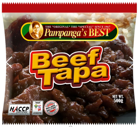 Beef Tapa 500gm Pampanga's Best Singapore Items - Periwinkle Online
