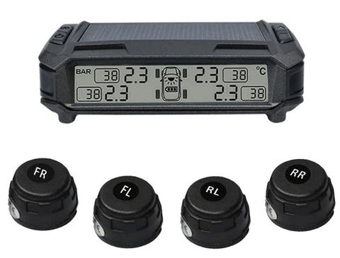 Dashboard Solar M1-External Sensor Tire Pressure Alarm Monitoring System Wireless TMPS