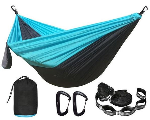 Two Person Parachute Hammock with Straps and Aluminum Carabine ZW-HS12