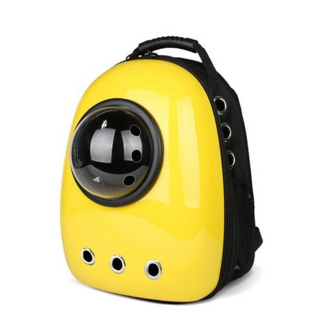 Yellow Universal Waterproof Bubble Pet Carrier Backpack