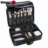 Hotrose Makeup Train Case 3 Layers Cosmetic Organizer with Shoulder Strap - Periwinkle Online