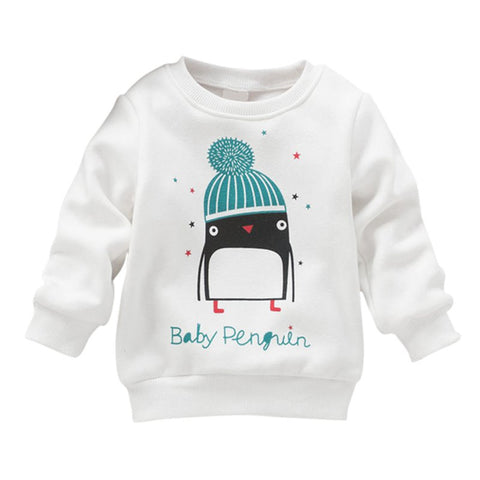 born Penguin Print Long Sleeve Sweater Pullover