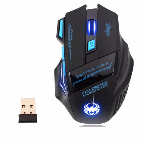 Wireless Mouse Gamer Gaming Mouse Optical 2400DPI 2.4G ECHTPower Nighthawk F14 LED 7D Gaming Mice