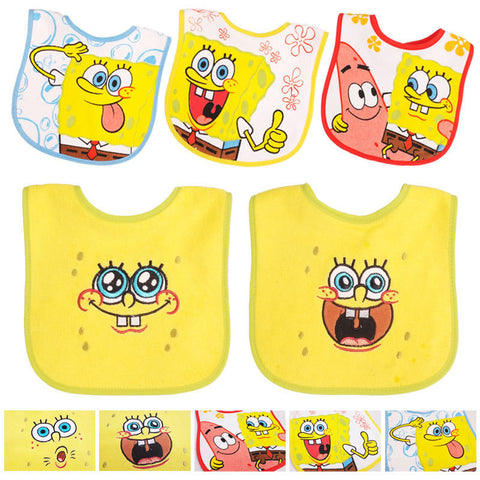 SpongeBob Cotton Baby Bibsl- 5pcs/lot
