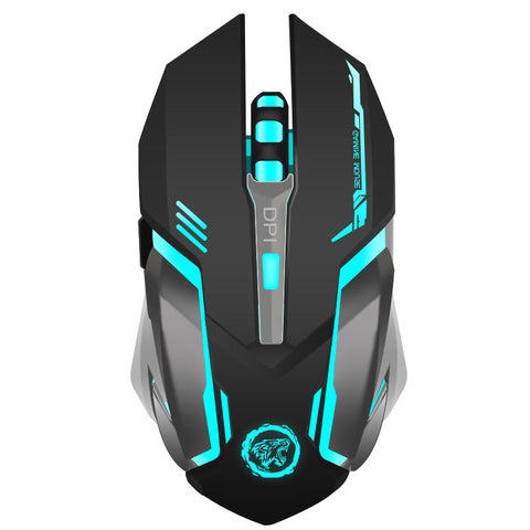 Rechargeable Wireless Gaming Mouse 7-color Backlight Breath Comfort Gamer Mouse