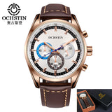 Limited Ochstin Military Quartz Analog Leather Sports Army Watch * Ochstin Watches - Periwinkle Online
