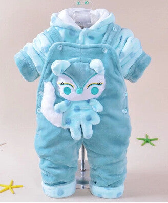 cartoon warm clothing sets hoodie+overalls kids clothes sets 2pcs baby suit * other Baby Clothes - Periwinkle Online