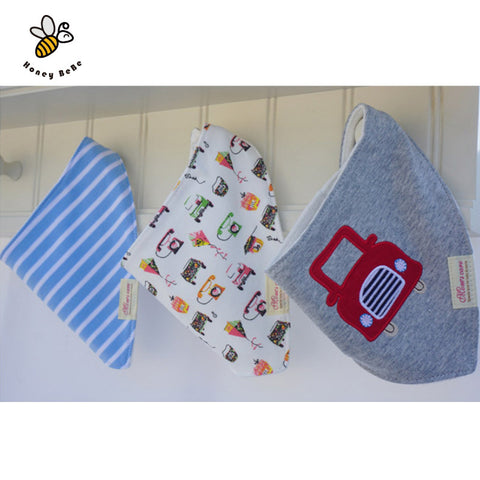 Cotton Cartoon Baby Bandana Bibs for born (3pcs) * other Bibs - Periwinkle Online
