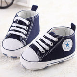 Cute Stars Baby Shoes 3 Colors Lace up Shallow born First Walkers * other Babies Shoes - Periwinkle Online