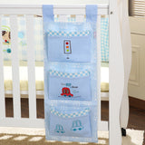 Crib Hanging Storage Bag / Newborn Crib Organizer / Toy and Diaper Pocket - Periwinkle Online