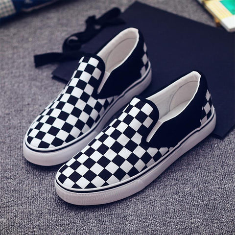 Checkerboard Unisex Canvas Shoes