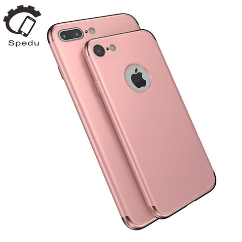 Spedu Electroplate phone cases For iphone 7 7 plus 3in1 Disassemble back cover * Spedu Phone Case - Periwinkle Online
