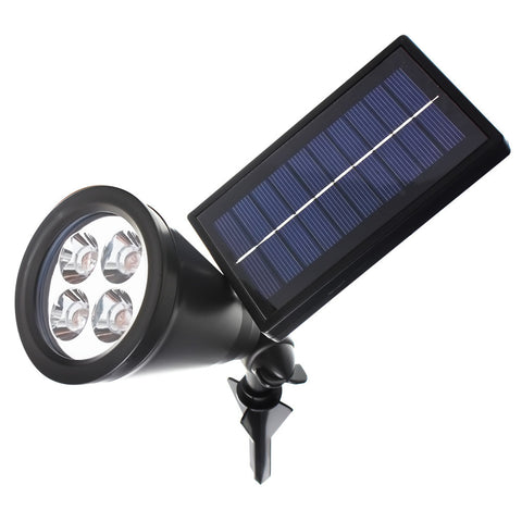 Led Outdoor Solar Power Garden Lawn Lamp Landscape Spot Lights