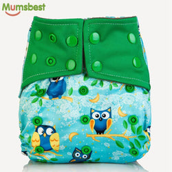 100% Charcoal Bamboo Inner Baby Washable Cloth for 0-2 y/old 3-15kg - Periwinkle Online