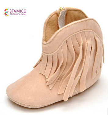 Baby Toddler Tassel Warm Cotton Boots for Girls 0-1 years old OEM AliExpress - Periwinkle Online